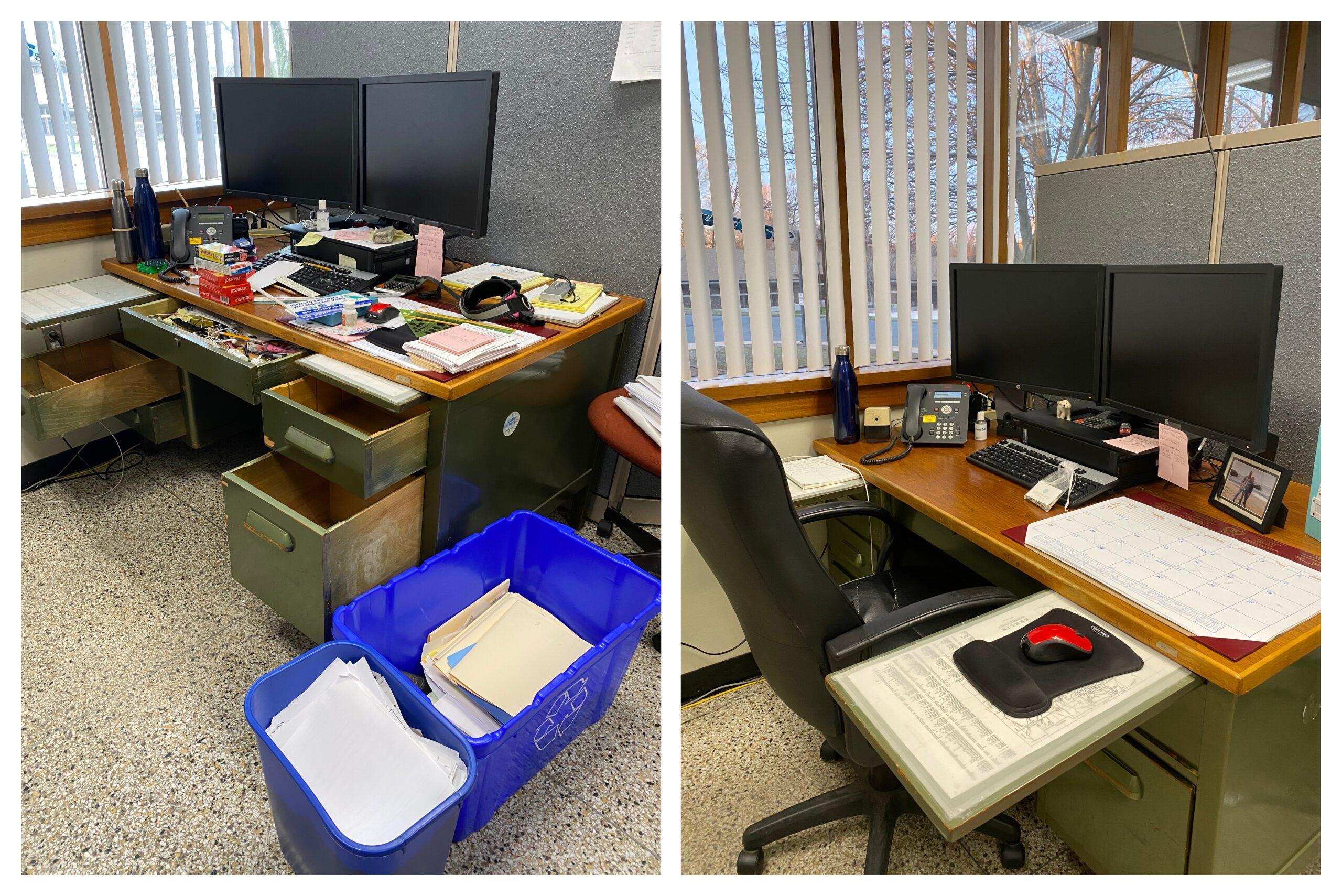 Joy at Work, taming my husband's office with KonMari