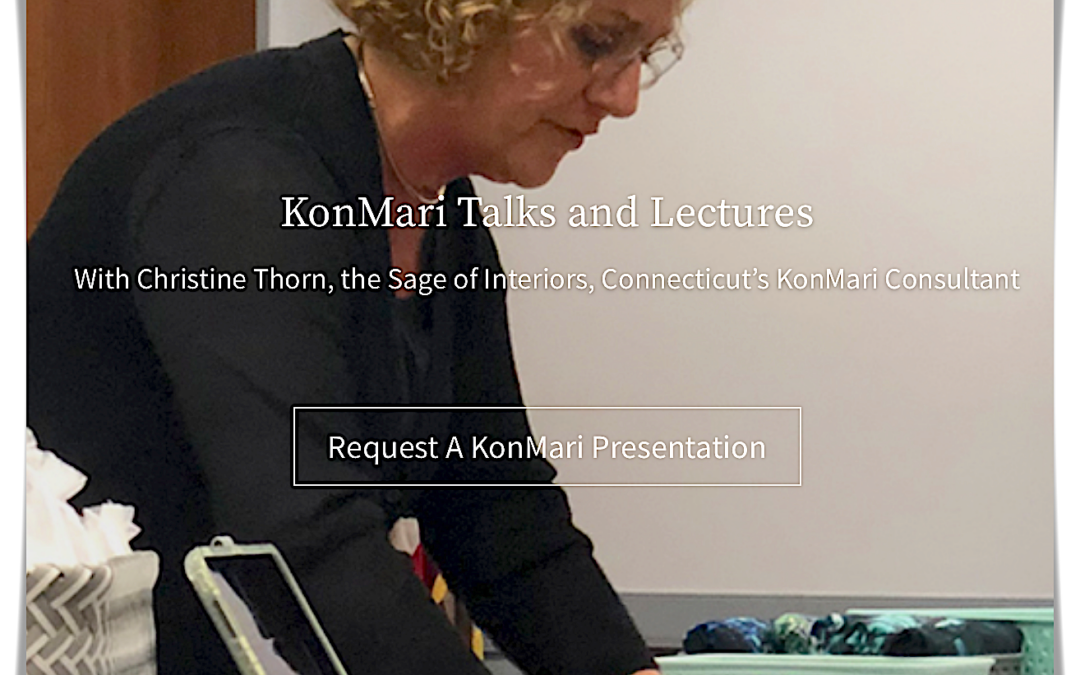 New Online KonMari Talks in Connecticut With Christine Thorn