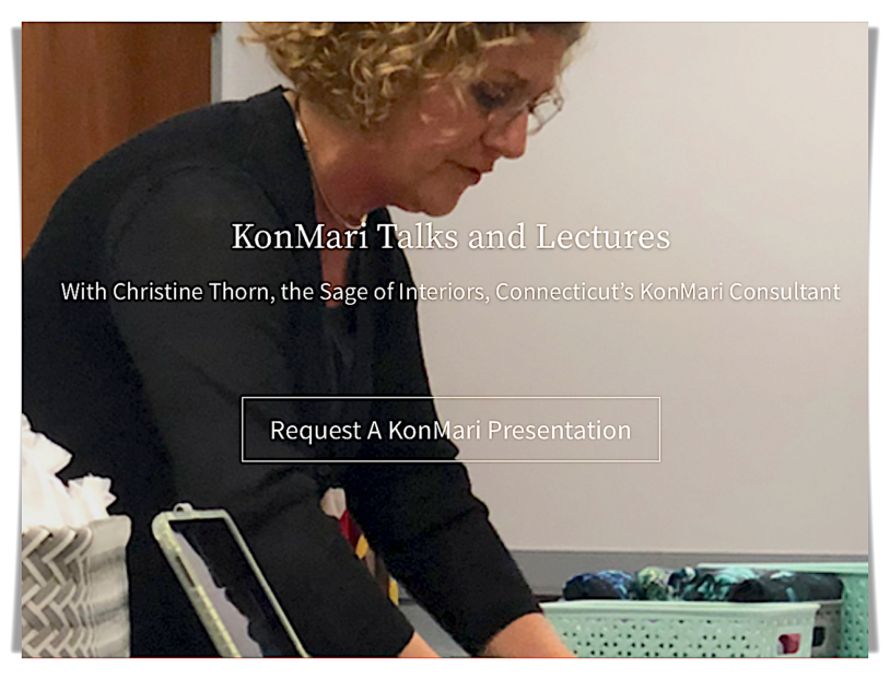 online KonMari presentations Christie Thorn Connecticut